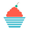 birthday cake dessert icon vector image