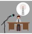 broadcasting concept design vector image