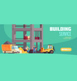 building service horizontal banner vector image