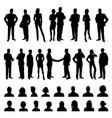 business people men and women set vector image
