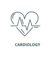 cardiology line icon linear concept vector image vector image