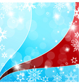 christmas flakes vector image vector image