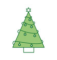 christmas tree pine star decoration ornament vector image vector image