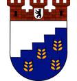 coat of arms of hohenschoenhausen in berlin vector image vector image