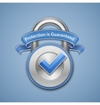 Combination lock with label vector image vector image