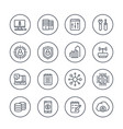 communication and technology line icons on white vector image vector image