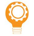 conceptual idea lightbulb with a gear piece vector image vector image