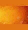 dark orange polygonal which consist of triangles vector image vector image