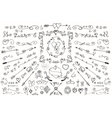 Doodlearrowsdecor elementLove set vector image