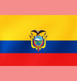ecuador flag national ecuadorian symbol for of vector image vector image