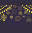 festive light background vector image vector image