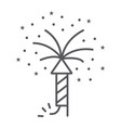 firework thin line icon party and festival vector image vector image