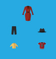 flat icon dress set of banyan clothes t-shirt vector image