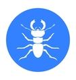 Forest red ant icon in black style isolated on vector image