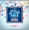 fourth july independence day sale banner vector image vector image