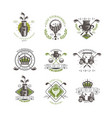golf tournament logo set vintage labels for golf vector image