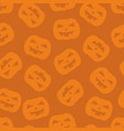 halloween tile pattern with pumpkin on orange vector image vector image