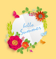 hello summer banner template for advertising vector image vector image