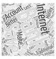 Internet Banking Savings Accounts Word Cloud vector image vector image
