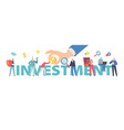 investment return concept people saving money vector image vector image