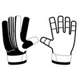 isolated goalkeeper gloves icon vector image vector image