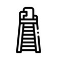 judge tower chair icon outline vector image vector image
