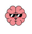 kawaii cute funny brain anatomy organ vector image