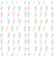 lightning bolt seamless pattern sweet colour vector image vector image
