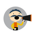 man with megaphone round avatar icon vector image vector image
