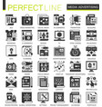 media advertising black mini concept icons and vector image vector image