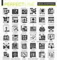 media advertising black mini concept icons vector image