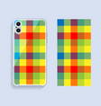 mobile phone cover design template smartphone vector image vector image