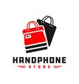 mobile phone shop logo vector image vector image