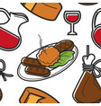 montenegrin food and drink seamless pattern vector image vector image