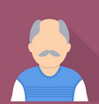 old man icon flat style vector image