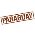 paraguay brown square stamp vector image vector image