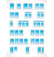 plastic-windows vector image