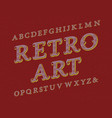retro art typeface vintage font isolated english vector image