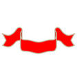 ribbon red sign 1410 vector image