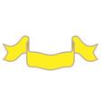 ribbon yellow sign 401 vector image vector image