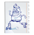 Robot doodle vector image vector image