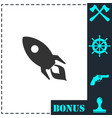 rocket icon flat vector image