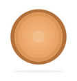 round wooden log flat isolated vector image vector image