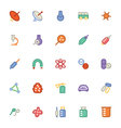 Science Colored Icons 8 vector image