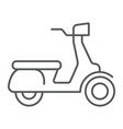 scooter thin line icon vehicle and transport vector image vector image