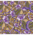 seamless floral lilac pattern vector image