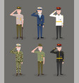 set army forces celebrated national veterans day vector image vector image