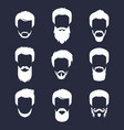 set of different men hipster haircuts vector image vector image