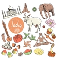 set of tourist attractions India vector image vector image