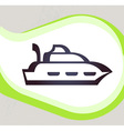 Ship Retro-style emblem icon pictogram EPS 10 vector image vector image